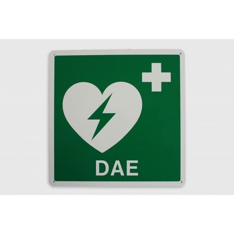 Cartello indicatore piatto defibrillatore